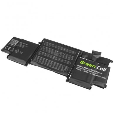 Baterija (akumuliatorius) GC A1493 Apple MacBook Pro 13 A1502 (Late 2013, Mid 2014) 11.34V 71.44Wh 2