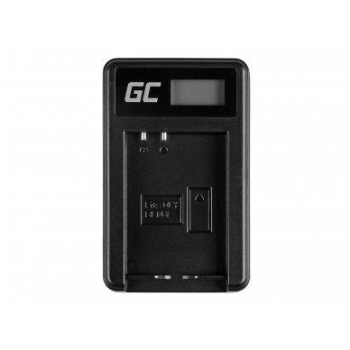 Baterijos (akumuliatoriaus) kroviklis GC BCN-1 skirtas Olympus BLN-1/BCN-1, PEN-F, OM-D EM1, EM5, OM-D E-M5 Mark II 5W 8.4V 0.6A 3