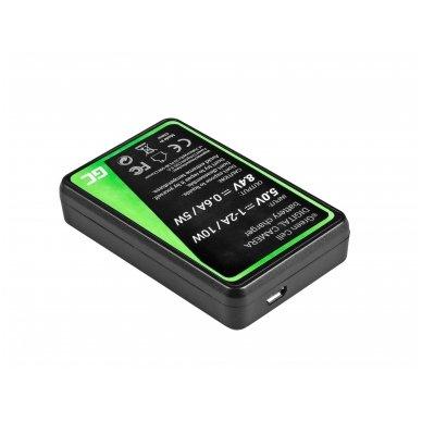 Baterijos (akumuliatoriaus) kroviklis GC CB-2LW skirtas Canon NB-2L / NB-2LH,  PowerShot G7 G9 S70 S80 R100 R11 Canon Elura 85 90 EOS 350D 400D 5W 8.4V 0.6A 2