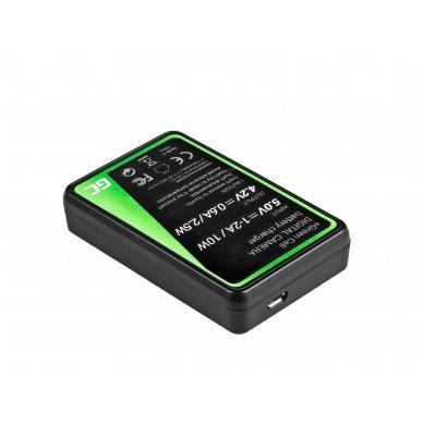 Baterijos (akumuliatoriaus) kroviklis GC CB-2LY skirtas Canon NB-6L/6LH, PowerShot SX510 HS, SX520 HS, SX530 HS, SX600 HS, SX700 HS, D30 2.5W 4.2V 0.6A 2
