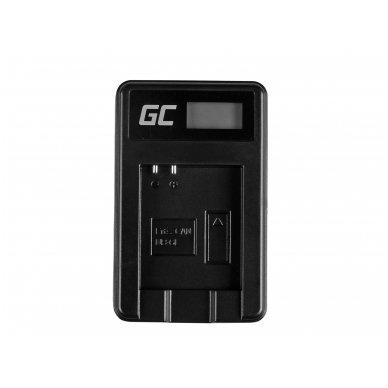 Baterijos (akumuliatoriaus) kroviklis GC CB-2LY skirtas Canon NB-6L/6LH, PowerShot SX510 HS, SX520 HS, SX530 HS, SX600 HS, SX700 HS, D30 2.5W 4.2V 0.6A 3