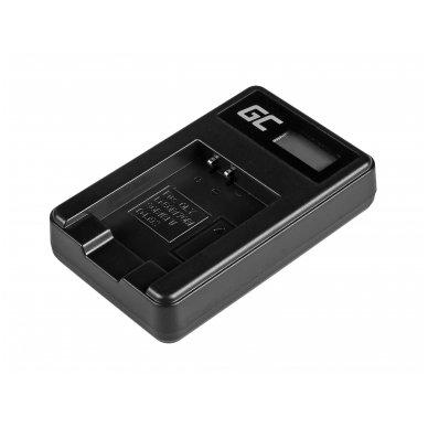 Baterijos (akumuliatoriaus) kroviklis GC LI-50C skirtas Olympus LI-50B, SZ-15, SZ-16, Tough 6000, 8000, TG-820, TG-830, TG-850, VR-370 2.5W 4.2V 0.6A