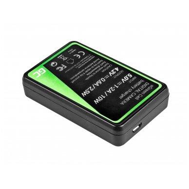 Baterijos (akumuliatoriaus) kroviklis GC LI-50C skirtas Olympus LI-50B, SZ-15, SZ-16, Tough 6000, 8000, TG-820, TG-830, TG-850, VR-370 2.5W 4.2V 0.6A 2