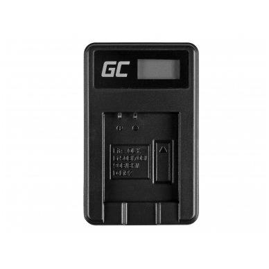 Baterijos (akumuliatoriaus) kroviklis GC LI-50C skirtas Olympus LI-50B, SZ-15, SZ-16, Tough 6000, 8000, TG-820, TG-830, TG-850, VR-370 2.5W 4.2V 0.6A 3