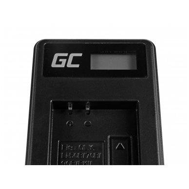 Baterijos (akumuliatoriaus) kroviklis GC LI-50C skirtas Olympus LI-50B, SZ-15, SZ-16, Tough 6000, 8000, TG-820, TG-830, TG-850, VR-370 2.5W 4.2V 0.6A 4