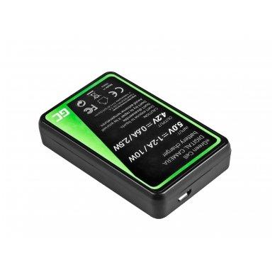 Baterijos (akumuliatoriaus) kroviklis GC MH-65 skirtas Nikon EN-EL12, AW100S, S640, AW100, P300, P330, P310, S70 S6000 2.5W 4.2V 0.6A 2