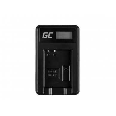 Baterijos (akumuliatoriaus) kroviklis GC MH-65 skirtas Nikon EN-EL12, AW100S, S640, AW100, P300, P330, P310, S70 S6000 2.5W 4.2V 0.6A 3