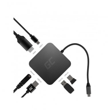 GC Jungčių šakoduvas (adapteris) 6in1 (USB 3.0 HDMI Ethernet USB-C) skirtas Apple MacBook, Dell XPS, Asus ZenBook ir kitiems 3