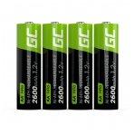 Baterija (akumuliatorius) GC 4x AA HR6 2600mAh 1.2V