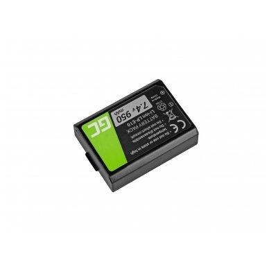 Baterija (akumuliatorius) GC LP-E10 Canon EOS Rebel T3, T5, T6, Kiss X50, Kiss X70, EOS 1100D, EOS 1200D, EOS 1300D 7.4V 950mAh 2