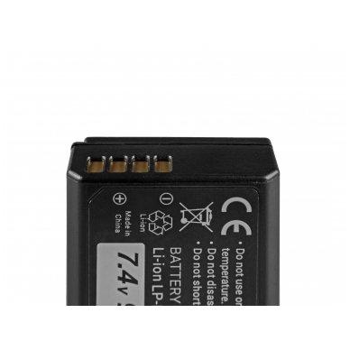 Baterija (akumuliatorius) GC LP-E10 Canon EOS Rebel T3, T5, T6, Kiss X50, Kiss X70, EOS 1100D, EOS 1200D, EOS 1300D 7.4V 950mAh 4