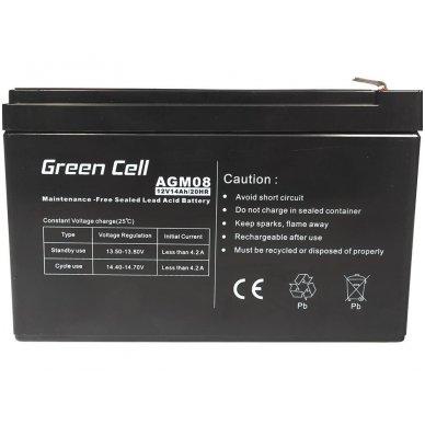 Baterija (akumuliatorius) GC UPS Gel (universali) 12V 14Ah 2