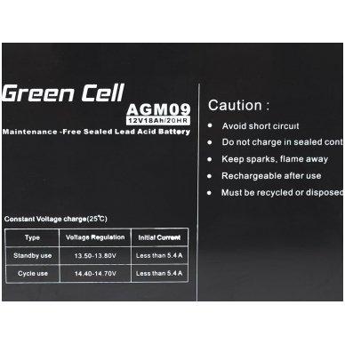 Baterija (akumuliatorius) GC UPS Gel (universali) 12V 18Ah 4