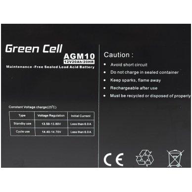 Baterija (akumuliatorius) GC UPS Gel (universali) 12V 20Ah 2