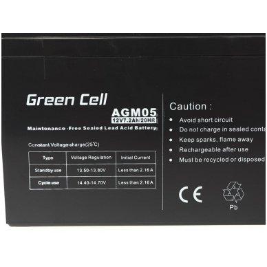 Baterija (akumuliatorius) GC UPS Gel (universali) 12V 7.2Ah 2
