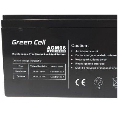 Baterija (akumuliatorius) GC UPS Gel (universali) 12V 9Ah 2