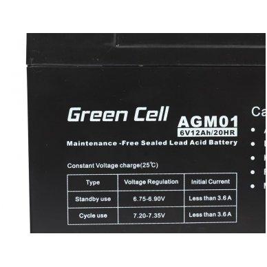 Baterija (akumuliatorius) GC UPS Gel (universali) 6V 12Ah 3