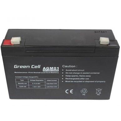 Baterija (akumuliatorius) GC UPS Gel (universali) 6V 12Ah 4