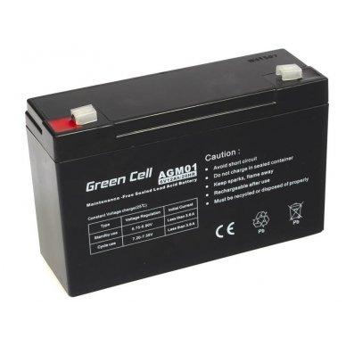 Baterija (akumuliatorius) GC UPS Gel (universali) 6V 12Ah