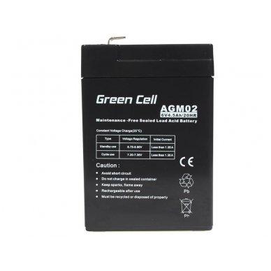 Baterija (akumuliatorius) GC UPS Gel (universali) 6V 4.5Ah 2
