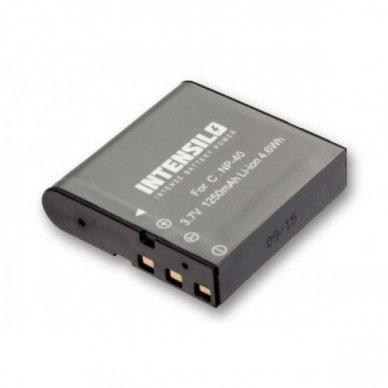 Baterija (akumuliatorius) foto-video kamerai Casio NP-40 3.6V (3.7V) 1250mAh