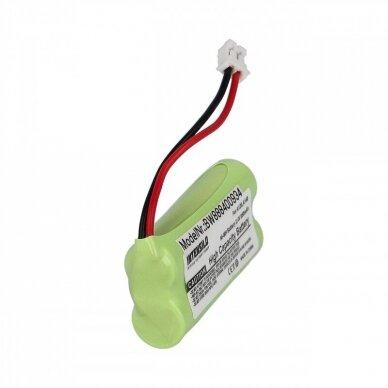 Baterija (akumuliatorius) fiksuoto ryšio telefonui Siemens Gigaset A120, A140 2.4V 850mAh 4