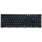 Klaviatūra MSI A6400 CX640 CR640 (didelis ENTER, klavišai su tarpais, su rėmeliu) UK