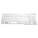 Klaviatūra TOSHIBA Satellite C650 C660 L650 L670 L770 (balta, didelis ENTER) UK