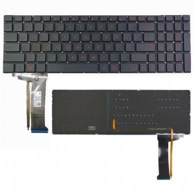 Klaviatūra ASUS ROG GL552JX GL552V GL552VL GL552VW US (šviečianti)
