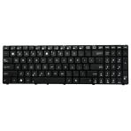 Klaviatūra ASUS K50 K60 K70 P50 F52 (mažas ENTER, klavišai su tarpais, su rėmeliu) US