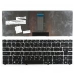 Klaviatūra ASUS U20 UL20 UX30 1201 1215 (didelis ENTER, sidabrinis rėmelis) UK