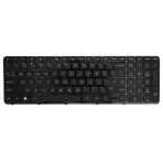 Klaviatūra HP COMPAQ 17-E000 (mažas ENTER, klavišai su tarpais, su rėmeliu) US