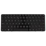Klaviatūra HP COMPAQ Mini 210-2000 210-3000 210-4000 (mažas ENTER, klavišai su tarpais, su rėmeliu) US
