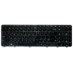 Klaviatūra HP COMPAQ Pavilion DV6-6000 DV6-6B DV6-6C (mažas ENTER, klavišai su tarpais, su rėmeliu) US