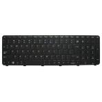 Klaviatūra HP COMPAQ Pavilion DV7-5000 DV7-6000 DV7-6B (didelis ENTER, klavišai su tarpais, su rėmeliu) UK