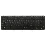 Klaviatūra HP COMPAQ Probook 450 455 470 (mažas ENTER, klavišai su tarpais, su rėmeliu) US