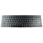 Klaviatūra IBM LENOVO IdeaPad B5400 M5400 (Org, klavišai su tarpais, sidabrinis rėmelis)