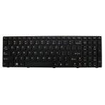 Klaviatūra IBM LENOVO Ideapad G560 G570 G770 G780 Z560 (mažas ENTER, klavišai su tarpais, juodas rėmelis) US