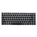 Klaviatūra SONY Vaio VGN-FW PCG-3D1M PCG-3H1M PCG-3F1M PCG-3J1M (klavišai su tarpais, sidabrinis rėmelis) US