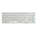 Klaviatūra SONY Vaio VPC-EH PCG-71811M PCG-71911M (klavišai su tarpais, su rėmeliu, balta)