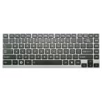 Klaviatūra TOSHIBA U800 U900 Z830 Z930 (klavišai su tarpais, pilkas rėmelis, šviečianti) US