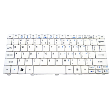 Klaviatūra ACER Aspire One D255 D257 D260 D270 521 532 533 (balta, mažas ENTER, F3 - BLUETOOTH) US