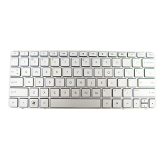 Klaviatūra HP COMPAQ Mini 210-2000 210-3000 210-4000 (sidabrinė, mažas ENTER, klavišai su tarpais, su rėmeliu)