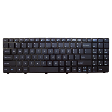 Klaviatūra MSI A6400 CX640 CR640 (mažas ENTER, klavišai su tarpais, su rėmeliu) US