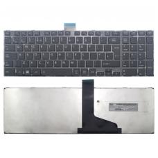 Klaviatūra TOSHIBA Satellite C850 C855 C870 L850 L855 L870 (Klavišai su tarpais, su rėmeliu, didelis Enter) UK