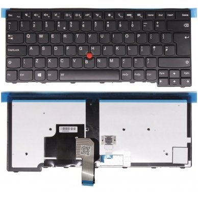 Klaviatūra Lenovo Thinkpad T431 T431S T440 T440S T440P Edge E431 E440 01AX310 US (šviečianti, trackpoint, originalas)