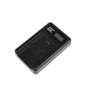 Kroviklis GC BC-QZ1 skirtas Sony NP-FZ100, Alpha A7 III A7R III A9 A9R A9S ILCE-7M3 7RM3 5W 8.4V 0.6A