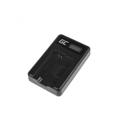Kroviklis GC BC-TRW skirtas Sony NP-FW50, Alpha A7 A7 II A7R A7R II A7S A7S II A5000 A5100 A6000 A6300 A6500 5W 8.4V 0.6A