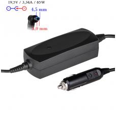 Automobilinis maitinimo adapteris (kroviklis) HP COMPAQ 65W - 19.5V/3.34A (4.5*3.0mm)