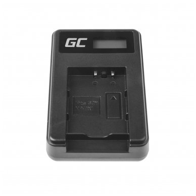 Maitinimo adapteris (kroviklis) GC BC-TRX skirtas Sony Action Cam HDR-AS10 HDR-AS20 HDR-AS300 HDR-AS50 FDR-X1000V DSC-H400 0.6A 4.8V 2.5W 4